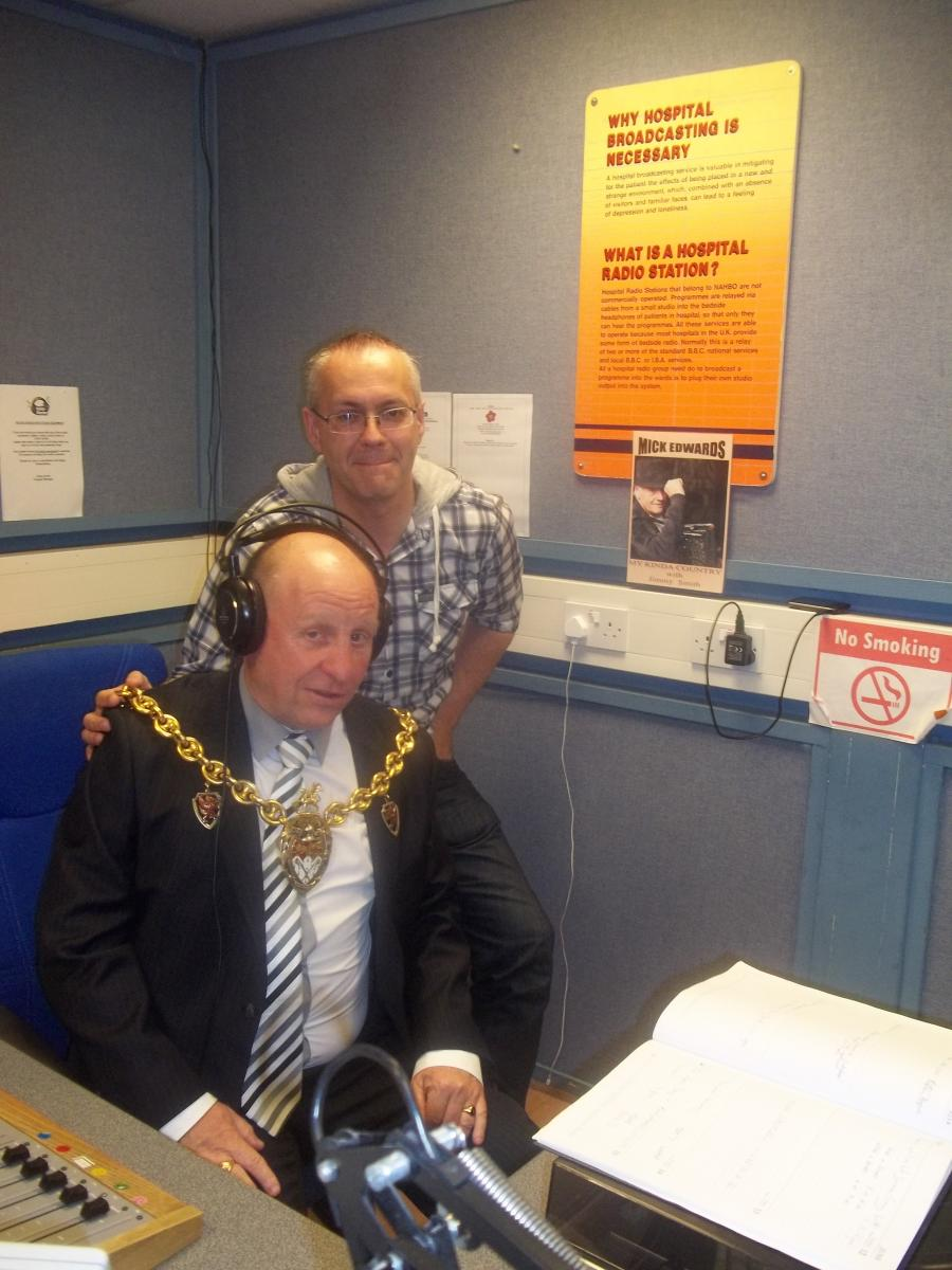 Mike Derry (Chairman) with Mayor of Wrexham