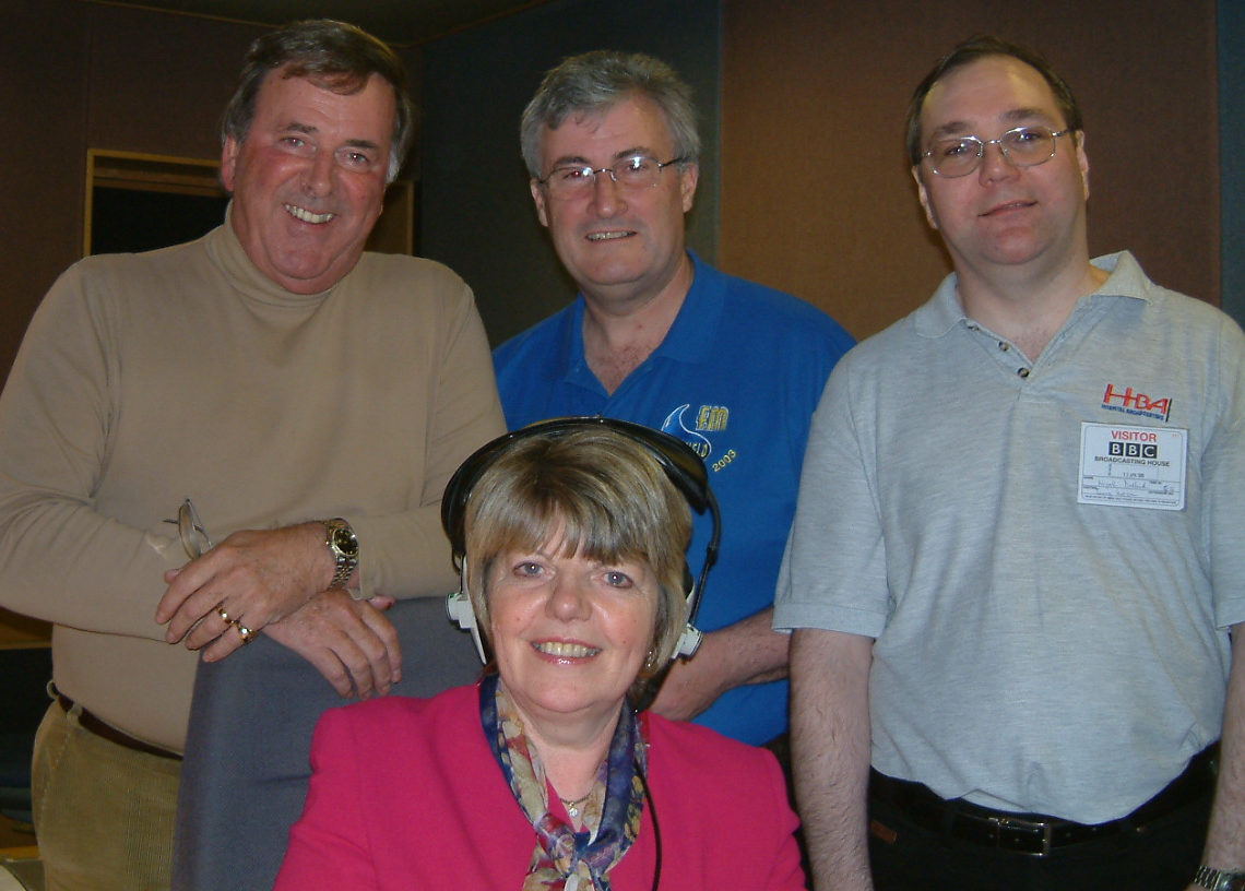 Sir Terry Wogan with June Snowden, Mike Skinner and Nigel Dallard
